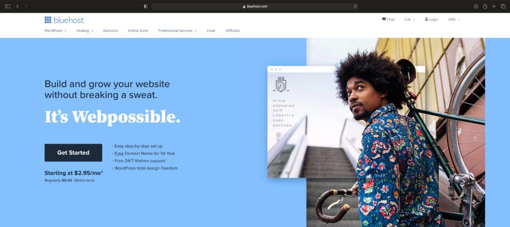 Bluehost website hosting